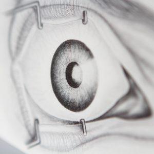 Postkarte Auge